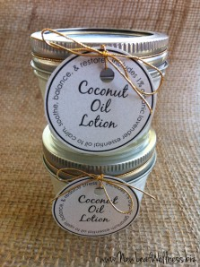 Coconut Oil Lotion from New Leaf Wellness