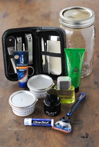 Shaving kit in a jar from The Gunny Sack