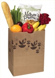 Stop and Shop brown paper bag