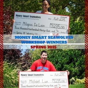 SPRING 2015 WORKSHOP WINNERS