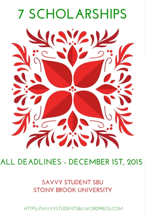 7 Scholarships with December !st Deadlines